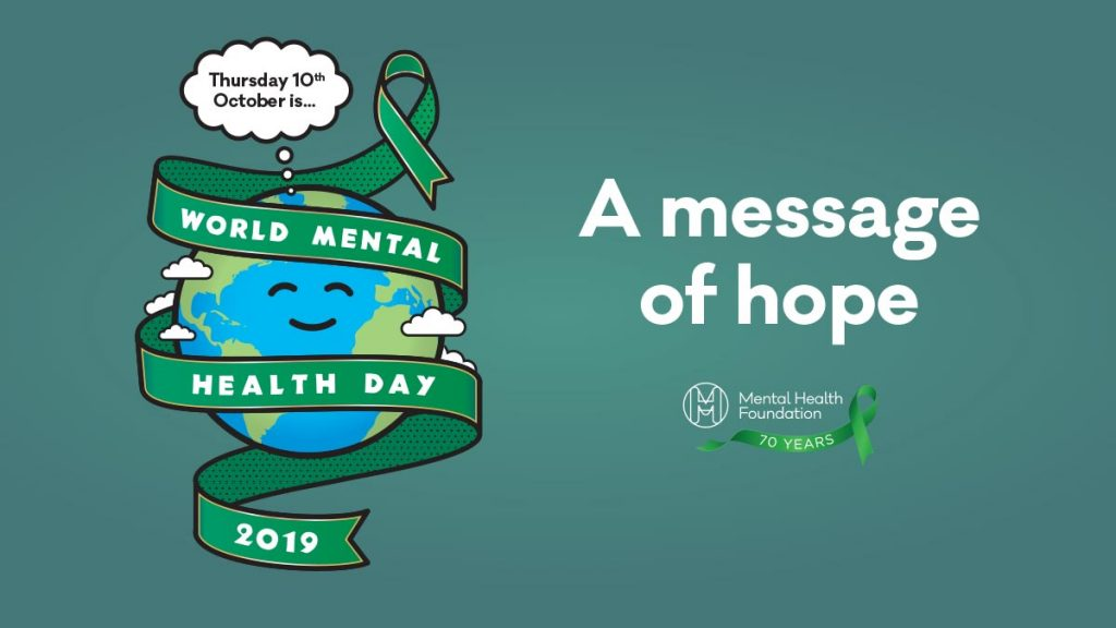 World mental health day 2019 banner